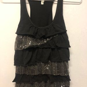 Aeropostale Black Bling Tank Top - Size Large